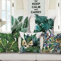 "Decorative Cute Tropical Foliage Plants Flowers Throw Pillow Case Cover 18""x 18"""