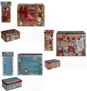 Christmas Eve Box Christmas Gift Xmas Box Boxes 3 Styles 26.5 x 17 x 8.5cm