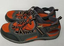 EDDIE BAUER Crusade Men's Hiking Bungee Sport Shoes Size 12 M Orange / Gray
