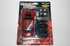 MODEL CAR KIT, MUSTANG GT, 1:43 SCALE DIE CAST, RED AND BLACK
