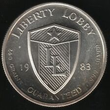 More details for 1983 u.s.a. liberty lobby silver round | pennies2pounds