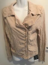 METALICUS   One Size   Vanilla Solid Crop Soft Tailored  Jacket RRP175.00