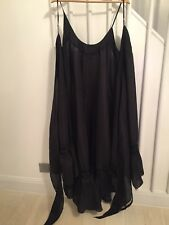 NEW, Designer Silk Organza Wrap Dress, Black. Size U.K. 12,14,16