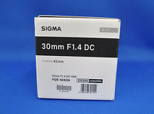 Sigma 30mm F1.4 DC HSM Art Lens for Nikon Mount Japan Domestic Version New