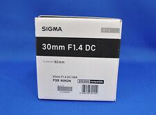 Sigma 30mm F1.4 DC HSM Art Lens for Nikon Mount Japan Model New