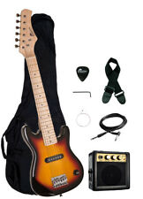 "Raptor 30"" Kids 1/2 Size TOBACCOBURST Electric Guitar Combo + Amp Bag Strap Pick"
