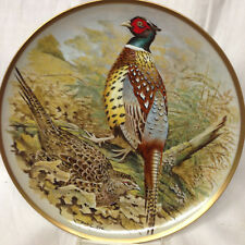 """FRANKLIN MINT GAMEBIRDS OF THE WORLD CHINESE RING-NECKED PHEASANT PLATE 9"""""""