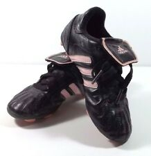 Adidas Traxion Soccer Cleats Size 11K Toddler Girl Youth Black Pink Shoes