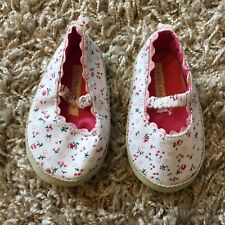 Laura Ashley Spring Calico Floral Infant Mary Jane Shoes 6-9 Month