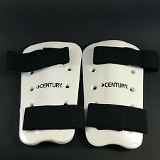 Century Martial Arts Sparring Shin Guards Pads White Size Adult Small