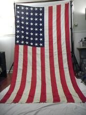 47d783e7501f HUGE Vintage WWII 48 Star US American FLAG Sewn 5  x 9.5  w
