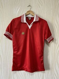 ADMIRAL 80s FOOTBALL SHIRT SOCCER JERSEY RARE VINTAGE RED sz M