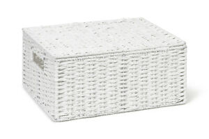 Storage Basket White Large Paper Rope Box With Lid By Arpan