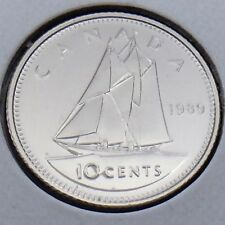 1989 Canada 10 Ten Cents Dime Canadian Brilliant Uncirculated BU Coin G439