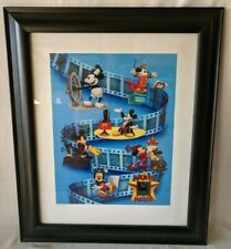 1998 Disney MICKEY THROUGH THE YEARS Limited Edition Framed Lithograph 35mm film