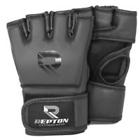 MMA Grappling Gloves UFC Cage Fight Boxing Punch Training Bag Mitts Black RFG