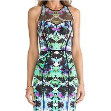 NWT $385 Milly Mesh Racer Dress Italian Orchid Print Multi US size 6 AMAZING!!