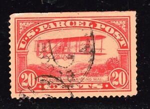 U.S. STAMP #Q8 — 20c PARCEL POST - AIRPLANE - USED