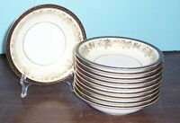 "LOT OF 10 NORITAKE BORDEAUX FRUIT BOWLS 5 5/8"" NEVER USED FREE U S SHIPPING"