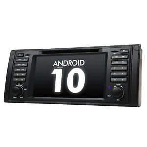 """7""""Multimedia Android 10 Car Stereo GPS Sat Navi Autoradio CANBus DVD For BMW E39"""