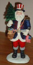 """Lenox Patriotic Santa Figurine w/Box 5.75""""H Collector's Treasury of Santas 1996"""