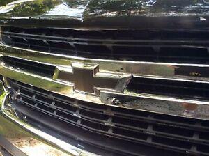 07-13 Silverado 1500 Emblem Overlay DECAL GLOSS BLACK Front & Rear SET