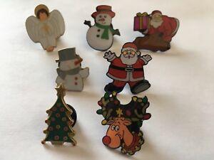 Christmas pin badges