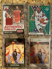 Dwyane Wade 4 Card Lot 2007 Topps & Topps Chrome Mosaic & Game Used Jersey