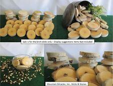 "25 pcs 3""-4""x.5"" White Birch Wood Tree Log Slice Round Disk Wedding Crafts Decor"