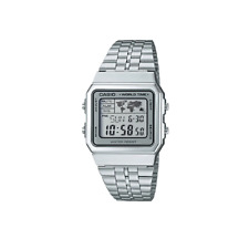 Casio Classic A500WA-7DF Silver Stainless Steel Digital World Time Watch