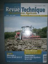 Deutz Fahr tracteur AGROFARM 85 - 100 : revue technique RTMA 185