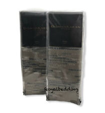 Pair Of Donna Karan Exhale Collection King Pillow Sham Set Taupe $380