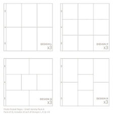 Project Life SMALL VARIETY #4 12x12 POCKET PAGES 12-PACK scrapbooking 380261