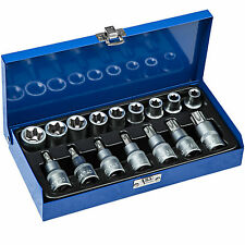 Juego de llaves de vaso maletin herramientas 17 piezas Torx hexagonales carraca