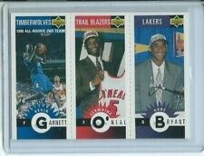 1996- Kobe Bryant Jermaine O'Neal Kevin Garnett Upper Deck # M129 Rookie RC LA