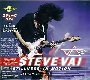 STEVE VAI STILLNESS IN MOTION LIVE IN L.A. 2015 JAPAN 2CD BSCD2 BRAND NEW/SEALED
