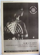 Iggy Pop 1988 Poster Ad Cold Metal instinct