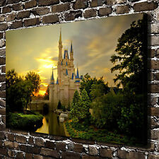 Disney castle Paintings HD Print on Canvas Home Decor Wall Art Picture posters