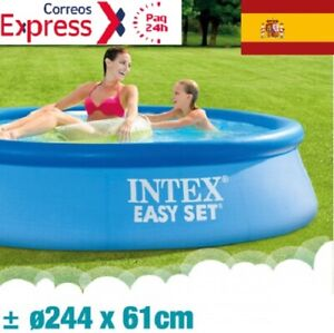 INTEX Piscina hinchable 244cm x 61m Familiar desmontable Easy Set (1942 litros)