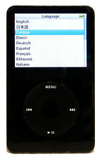 Apple iPod Clásico 5th generación 30GB (negro) modelo A1136-Funcionando