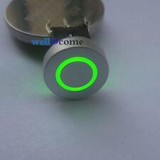 5pcs Green LED 10mm Cap CIRCLE 12V 50mA Momentary Tact Push Button Switch