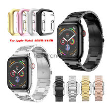 Stainless Steel Watch Strap Band + PC Cover For Apple Watch Series 5/4 40mm 44mm