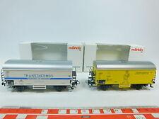 AW879-0,5# 2x Märklin H0/AC freight wagon DB: 00750-15 +00755-22, NIP