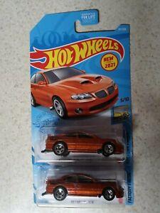"""2021"" HOT WHEELS '06 PONTIAC GTO SUPER DUTY ORANGE #5/10 D CASE (LOT OF 2)"