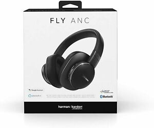 Harman Kardon Fly Wireless Over-Ear Active Noise Cancelling Headphones - Black