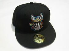 Hickory Crawdads Llamas Black New Era 59Fifty Hat 7 1/4 NEW! MiLB Copa