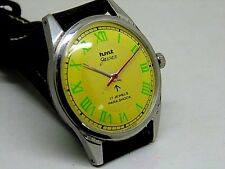 genuine hmt jawan hand winding men's steel vintage india made watch run order y