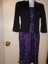 women's black/purple dress NWT Oxiuli Fashion size M  beautiful!!!