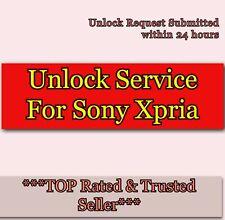 Unlock Code Service For Sony Xperia Z1 ZL Z SP S T V J  For O2 Vodafone 3 EE UK