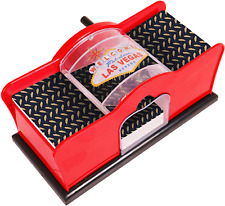 Card Shuffler (2-Deck) for Blackjack Poker Quiet Easy to Use Manual Hand Cranked
